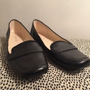 Nine West Leather Square Toe Flats